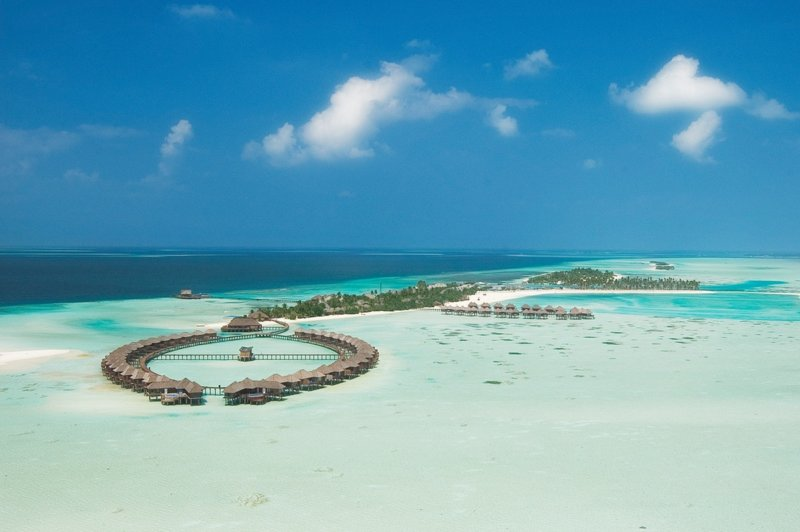 Aerial view of Maldives Olhuvel Resort