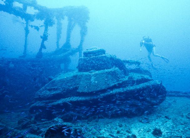 Truk Micronesia wrecks tank