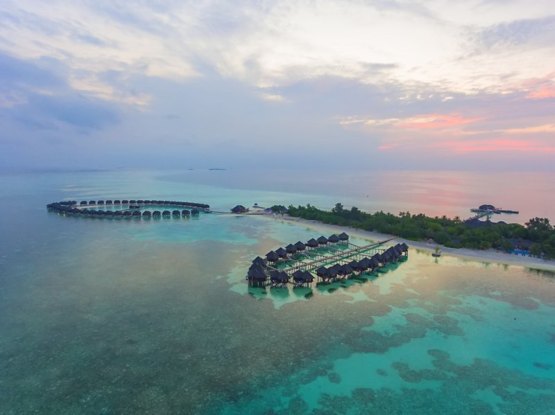 Maldives Olhuvel Resort Aerial View